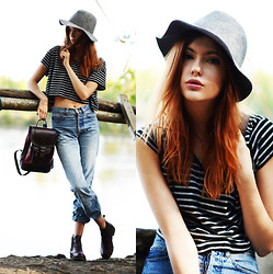 Ebba Zingmark - Miamasvin Hat, Beara Backpack, Forever 21 T Shirt, Georgia Rose Boots, 2hand Jeans - Let the good times roll
