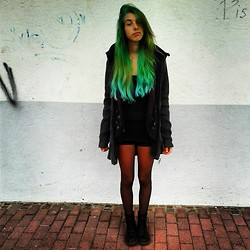 Laurence S. - H&M Blouse, Dr. Martens Shoes, Bench Jacket - Raining Again