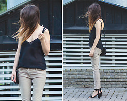 Lena Juice - Diy Camisole, Tommy Hilfiger Jeans, Zara Shoes - When she's gone