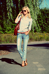 Anna Grochowska - Cubus Jeans, H&M Shirt - Don't worry, be happy! :)