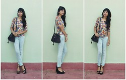 Vanessa Freitas - Ebay Bucket Bag, Riachuelo Ripped Jeans, C&A Flatform Sandals - Bucket bag is the new love
