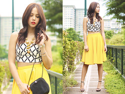 Patricia Prieto - Apartment 8 Corset, Apartment 8 Circle Skirt, Zara Heels - Can I Have Some Mustard With That?