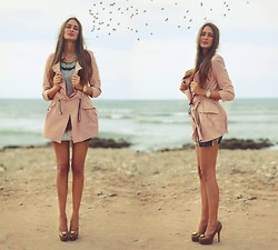 Amina Allam - Udobuy Powder Pink Trench Coat, River Island Dress, Fendi Peep Toe Pumps - Dreams are free and make me fly