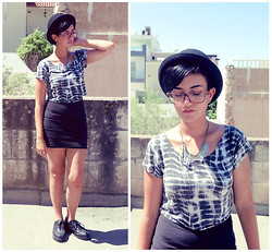 Chelsea Street - New Look Crop Top, Primark Skirt, H&M Necklace - Exoskeleton