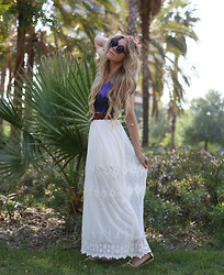Anna Wiklund - Ebay Maxi Skirt, Romwe Swimsuit - POSTCARD FROM BARCELONA