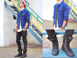 David Guison - Forever 21 Jacket, Forever 21 Tie, Forever 21 Polo, Forever 21 Pants, Palladium Boots - I'm Forever 21