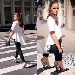 Charlotte Bridgeman - Out With Audrey Blouse, Wittner Heels, Nomadic Clutch - Out With Audrey