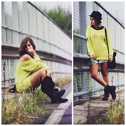 Eleonora Pellini - Zara Yellow Sweater, H&M Geometric Skirt, Ash Footwear Bikers - Boulevard of broken dreams