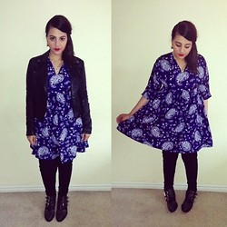 Kiran A - Topshop Jacket, Choies Dress, Frontrowshop Boots - Paisley & Leather