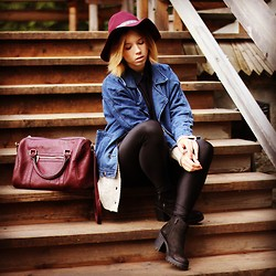 Wioletta Mary Kate - Bershka Bag, Ickl Fashion Coat, H&M Hat, Vagabond Boots - Autumn Vibes #2
