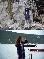 Sasha Kurilo - H&M T Shirt, Fleamarket Skirt, Second Hand Jacket, Converse Shoes - Montenegrian holidays II