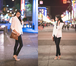 Megan C - Tally Weijl Blazer, Nine West Heels, Steve Madden Purse, H&M Blouse - Friday Night Lights