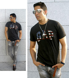 Garciarepublic Emilio - Primark Sunglass, H&M Accesories, Gap T Shirt, Zara Jean, Emidio Tucci Shoes - LAST DAYS OF SUMMER