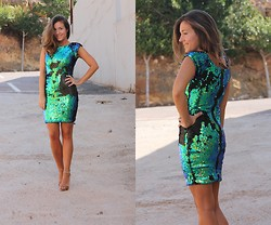 TAMARA M - Armani Exchange Dress - Shine Bright!