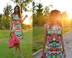 STYLISSIM . - Sheinside Dress, Accessorize Bag - FLOWERED DRESS