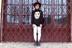 Khoi Ho - Wildfox Couture Sweater, Thrift Store Jeans, Aggy Boots - XX