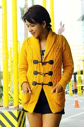 Angeline Rodriguez - Choies Yellow Wool Knit Cardigan - On Moving On.