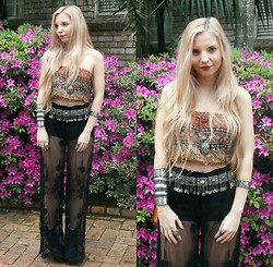 Caitlan Hammond - Age Of Sunastry Lace Pants, Thrifted Top, Thrifted Gypsy Coin Belt - Bed of thorns