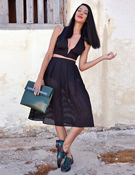 Konstantina Tzagaraki - Top, Skirt, Bag, Brogues - Words if you let them, will do what they have to do..