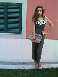 Lina . - Nowistyle Khaki Dress - Khaki choice for autumn