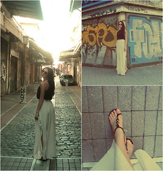 Vicky Ath - Mango Long Skirt, Stradivarius Top, Exe Sandals - Autumn mood : on