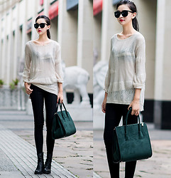 Ladykelly Wang - Mixmoss Sweater, Mixmoss Pants - Always simple style