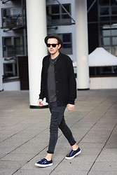 Rolandas Lušinskis - H&M Hat, Cos Bomber Jacket, Cos Tee, Cheap Monday Jeans, Superga Sneakers - MINIMAL