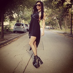 Marianna Charriere - Unif Harness Dress, Tom Ford Sunglasses, Unif Hellbounds - The Craft