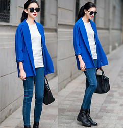 Ladykelly Wang - Mixmoss Blazer, Mixmoss Jeans - Blazer wear for working