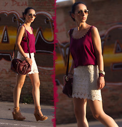 WOWS . - Chic Wish Crochet Skirt, Joaquim Ferrer Hera Style Wedges - (+Giveaway) CROCHET SKIRT WITH GOLD ORNAMENT
