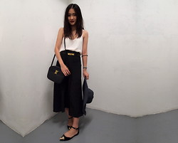 Leonie Leong - Topshop Camisole, Topshop Boutique By Skirt, Moschino Belt, Salvatore Ferragamo Bag, Jeffrey Cambell Flats, American Apparel Hat - Goodbye Summer