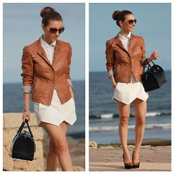Luba { Well Living Blog } - Massimo Dutti Jacket - Second life for the skort