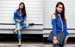 Anastasia Shepelevich - Asos Shirt, Asos Jeans, Zara Heels - It's all about denim