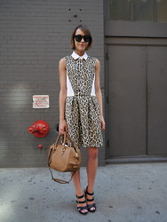 Ella Catliff - Sea Ny Dress, Wildfox Couture Sunglasses, Jaeger London Bag, Vince Camuto Sandals - NYFW SS14 Day 4