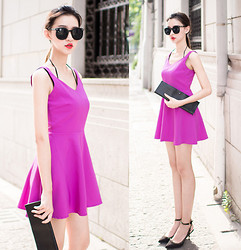Ladykelly Wang - Mixmoss Dress - Purple Dress