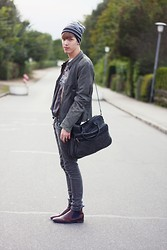 Kai Tsn - Adidas Beanie, G Star Raw Leather Jacket, Floris Van Bommel Shoes - Baby your magic is working
