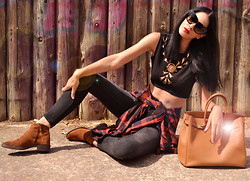 Konstantina Tzagaraki - Top, Booties, Hermës Bag, Sunglasses - Happily lying together, the sun warming them..