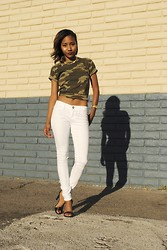 Nicole G - Tillys White Jeans - CONCRETE JUNGLE