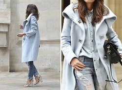 STYLISSIM . - Karen Millen Coat - PASTEL COAT + DOUBLE DENIM