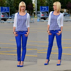 Tatiana M - H&M Pants, Smart Set Top, Jessica Simpson Shoes - True Blues