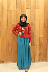 Nadiah Rostam - Bawal Aidijuma, Mnb Shirt, Necklace Glamoures, Mnb Skirt, Boots - I'll be with you