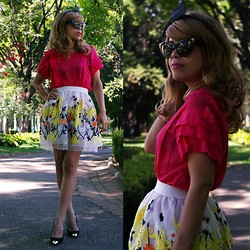 Priscila Diniz - Oasap Floral Embroidered Skirt - Amour