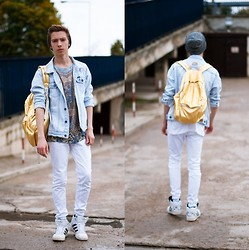 Paul Jeremy G. - River Island T Shirt, Pull & Bear Jacket, American Apparel Backpack, H&M Pants, Adidas Shoes - Turn me to gold in the sunlight