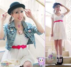 Luly Pastel Cubes - Zara Dress, Renner Jacket, Ebay Hat, Glitterbomb Sailor Moon Necklace, Marisa Belt, Oh Pop Darling Button, Fairy Maiden Socks, Mochimir Bag, Graveyard Cross Choker, Nerdy Little Secrets Octopus - Try a little tenderness