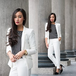 Levi Nguyen - Mango Blazer, Mango Trousers - THE WHITE SUIT
