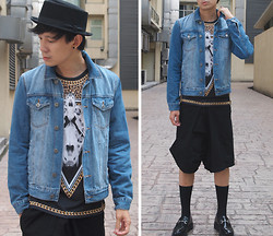 Zack T - New York Hat, Topman Denim Jacket, Zara Tee, Underground Creepers - Bones, Chains, Betrayal