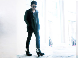 Karl Philip Leuterio - Messeca Square Toe, Uniqlo Tailored Pants, Vigor Oversized Vest, H&M Sweater With Leather - Layers + legs