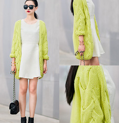 Ladykelly Wang - Mixmoss Cardigan, Mixmoss Dress - Bright color cardigan