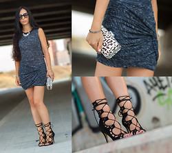 WOWS . - Choies Dress, Jessica Buurman Lace Up Scalloped Heels: Ayoka - RUCHED TWIST DRESS & LACE-UP HEELS +  Giveaway