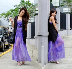 Kryz Uy - Wagw Dress, Wagw Vest - Grape